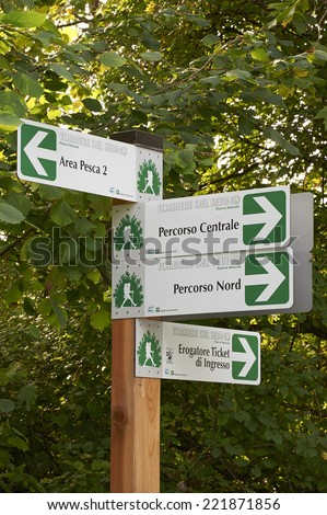 Provaglio (Bs),Franciacorta,Lombardy,Italy,National Reserve of Peat Bogs of lake Iseo,some signs