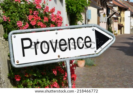 Provence sign on the street - stock photo