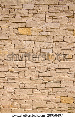 provence stone wall background - stock photo