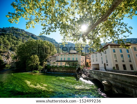 Provence typical city - stock photo