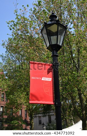 PROVIDENCE, RI -May 29, 2016: Graduation weekend at Brown University in Providence, Rhode Island on May 29, 2016, an ivy league school.