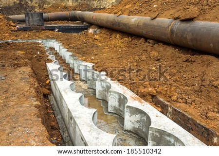 Prue formwork for pouring concrete foundations pipeline modern treatment facilities for industrial new commercial construction project