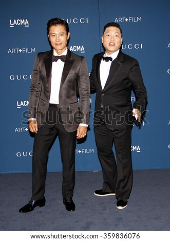 PSY at the LACMA 2013 Art + Film Gala Honoring Martin Scorsese And David Hockney Presented By Gucci held at the LACMA in Los Angeles, USA on November 2, 2013.  - stock photo