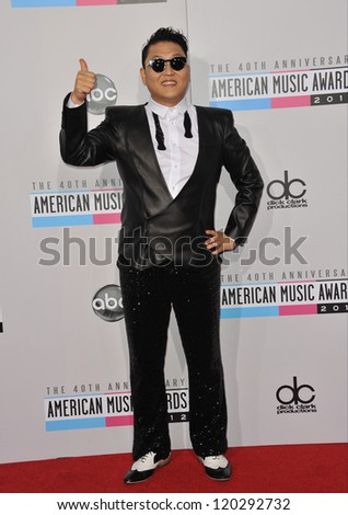 Psy at the 40th Anniversary American Music Awards at the Nokia Theatre LA Live. November 18, 2012  Los Angeles, CA Picture: Paul Smith
