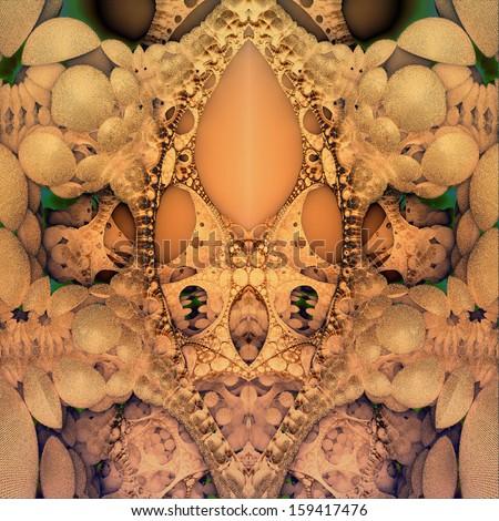psychedelic art - stock photo