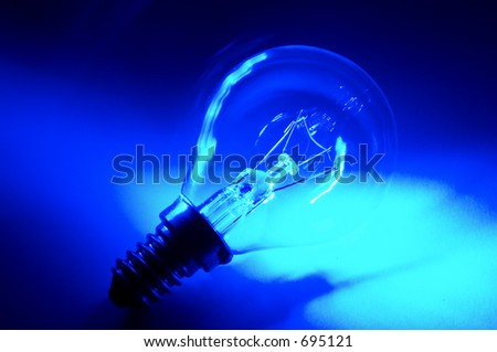Psychedelic bulb blue photo - stock photo