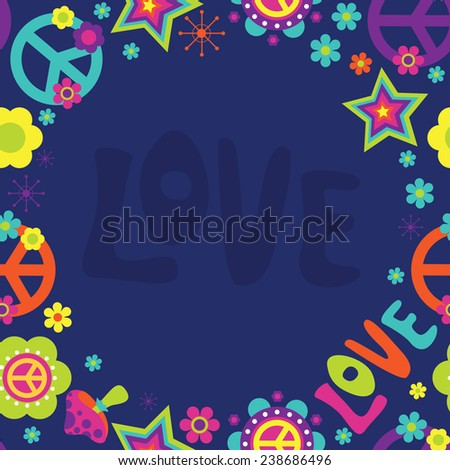 Psychedelic frame design - stock photo