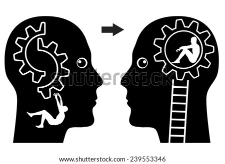 Psychiatry Concept. Concept sign of psychiatric treatment getting things back to normal - stock photo