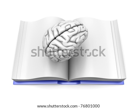 Psychologic / Psychiatric / Neurologic literature. 3d rendered Illustration. Isolated on white. - stock photo