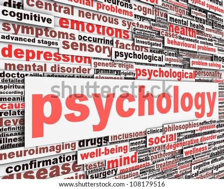 Psychology message conceptual design. Mental health sign conceptual design - stock photo