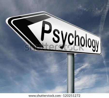 psychology psycho therapy for mental health against depression trauma,phobia schizophrenia road sign arrow - stock photo