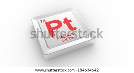 Pt symbol 78 material for Platinum chemical element of the periodic table - stock photo