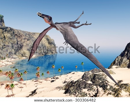 Pterosaur Dorygnathus Computer generated 3D illustration - stock photo
