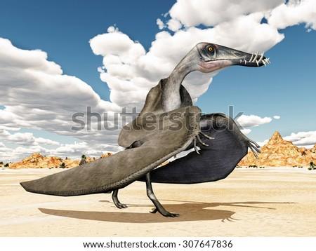 Pterosaur Dorygnathus Computer generated 3D illustration - stock photo