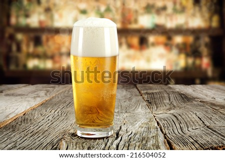 pub and beer  - stock photo