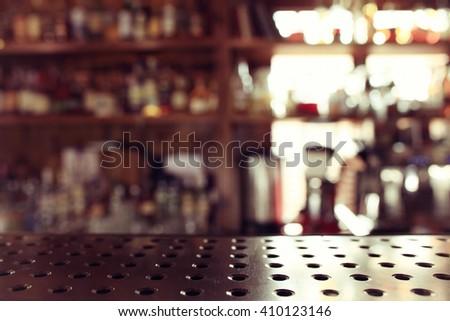 Pub blurred background bokeh bar restaurant - stock photo