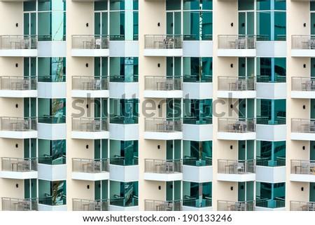 Public apartment in Thailand - stock photo