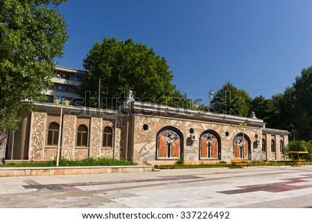Public Aquarium building in Constanta Romania near the Black Sea - stock photo