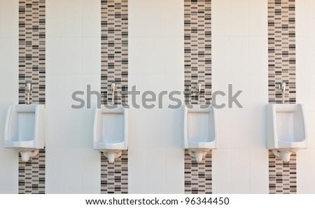 Public men toilet - stock photo
