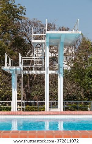 Public plunge pool in university - stock photo