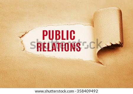 Public Relations - stock photo
