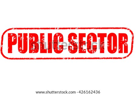 public sector stamp on white background. - stock photo