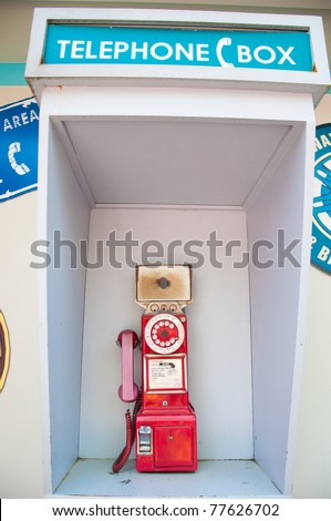 Public telephone - stock photo