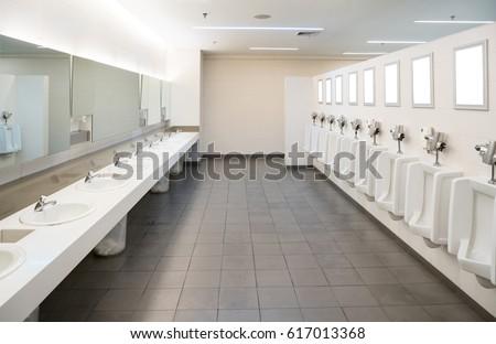 Public Toilet Room Comfort Male Stock Photo 617013368