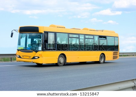 "public transport - yellow bus  - See similar images of this ""Business vehicles"" series in my portfolio - stock photo"