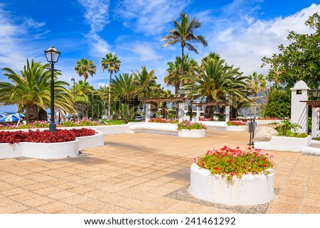 Public tropical gardens in Puerto de la Cruz, Tenerife, Canary Islands, Spain