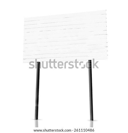 publicity placard - stock photo