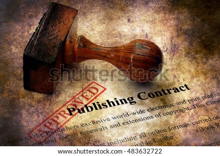 Publishing contract - approved grunge concept