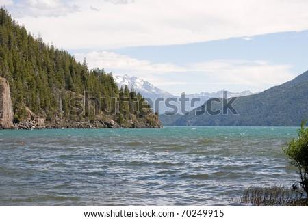 Puelo Lake, Patagonia Argentina - stock photo