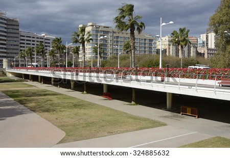 Puente de las Flores, the Bridge of Flowers in Valencia, Spain. - stock photo