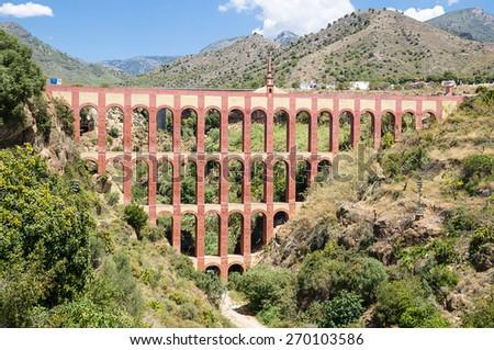 Puente del aguila (Eagle Bridge) in Nerja, Malaga, Spain - stock photo