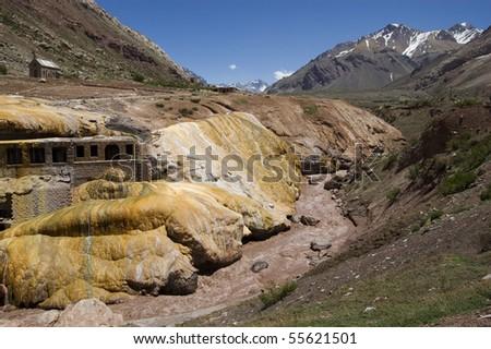 Puente del Inca Argentina - stock photo