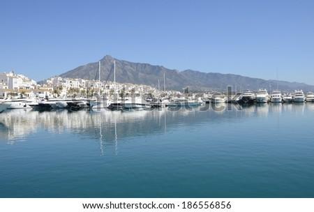 Puerto Banus, a marina located in Marbella, Andalusia, Spain - stock photo