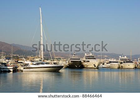 Puerto Banus in Marbella, Spain - stock photo