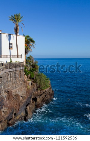 Puerto de la Cruz View, Tenerife, Spain - stock photo