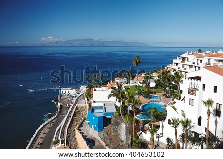 Puerto de Santiago city - stock photo
