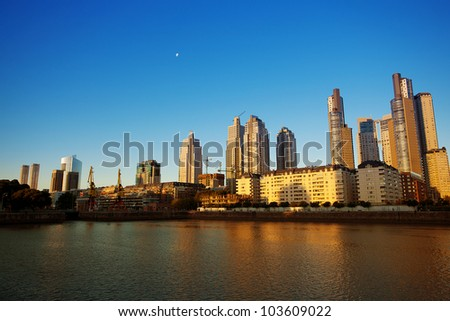 Puerto Madero in Buenos Aires Argentina
