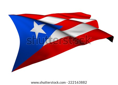 Puerto Rico flag - collection no_5  - stock photo