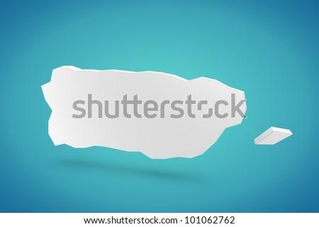 Puerto Rico Map - stock photo