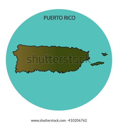 Puerto Rico Map - stock photo