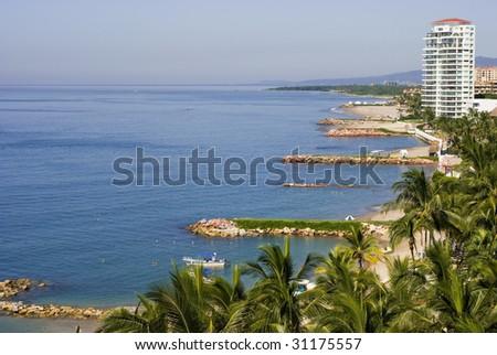 Puerto Vallarta Mexico beaches and hotels - stock photo