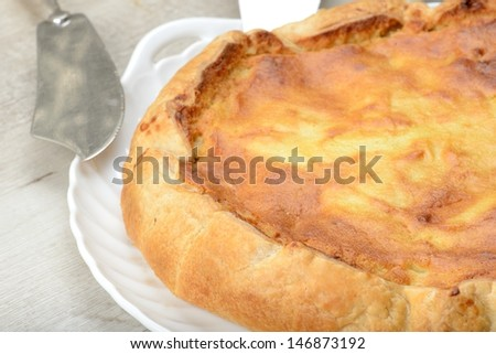 puff pastry cake - stock photo