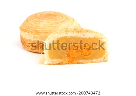 puff pastry mooncake - stock photo