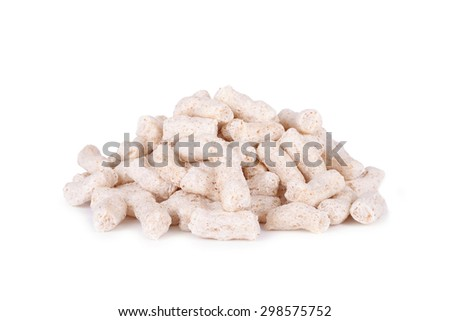Puffed corn snack isolated on white background - stock photo