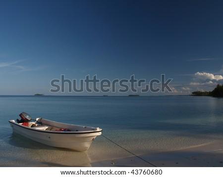 Pulau Banyak, the islands in Aceh Singkil, Sumatra - stock photo