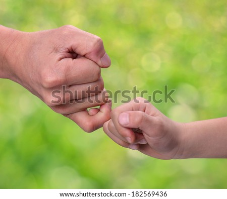 Pull the hook, The concept of commitment and mutual trust - stock photo